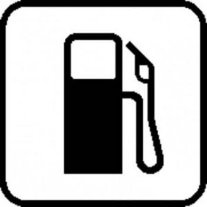 indicativo de una gasolinera