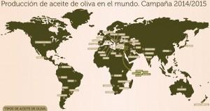 mapa países productores de aceite en todo el mundo