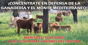 concentración ganaderos en Sevilla. Cartel