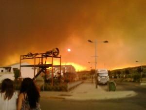 incendio en Quesada, Huesa y Larva