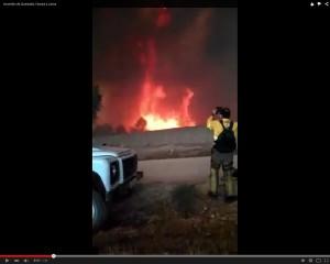 vídeo incendio en Quesada, Larva y Huesa
