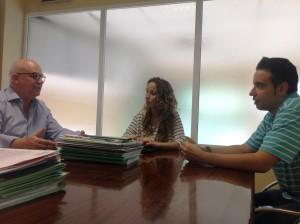 reunión de ASAJA-jaén con la parlamentaria de Podemos Mercedes Barranco